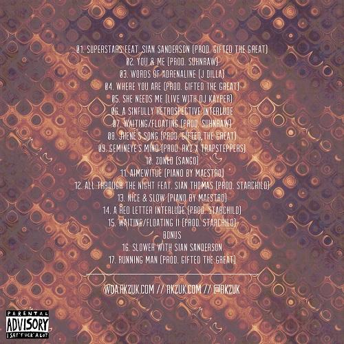 RKZ - #WordsOfAdrenaline [Mixtape] [R&B/Hip-Hop] [Free Download] Tracklist